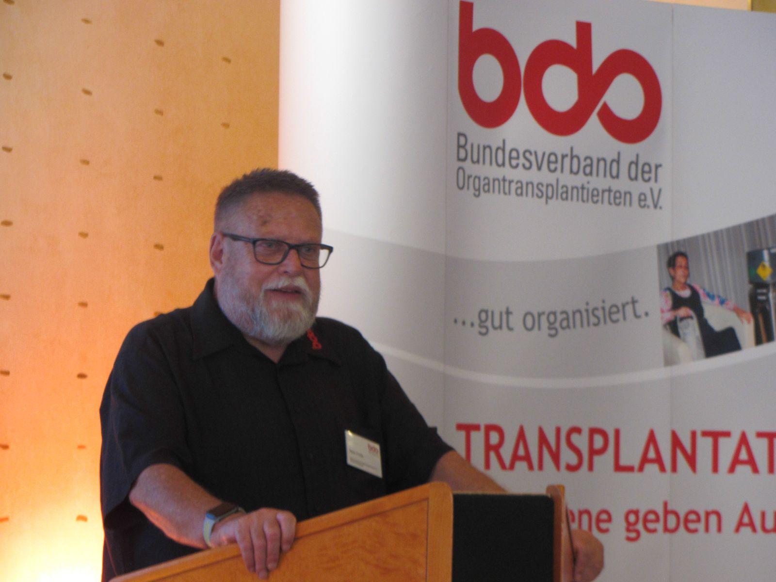 Peter Fricke, Vorsitzender des BDO, bei seiner Schlussansprache